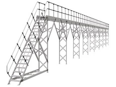 Стационарные рабочие платформы для боковых работ и работ на крыше
