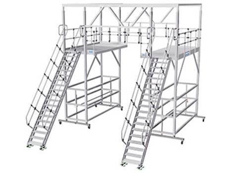 Мобильные платформы для работ на крыше с трапом с изменяемым углом наклона