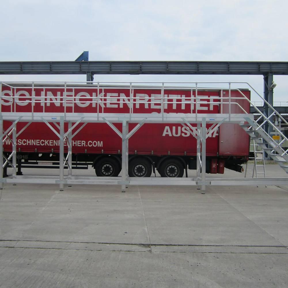 Рабочая платформа для обслуживания и инспекции грузовых автомобилей