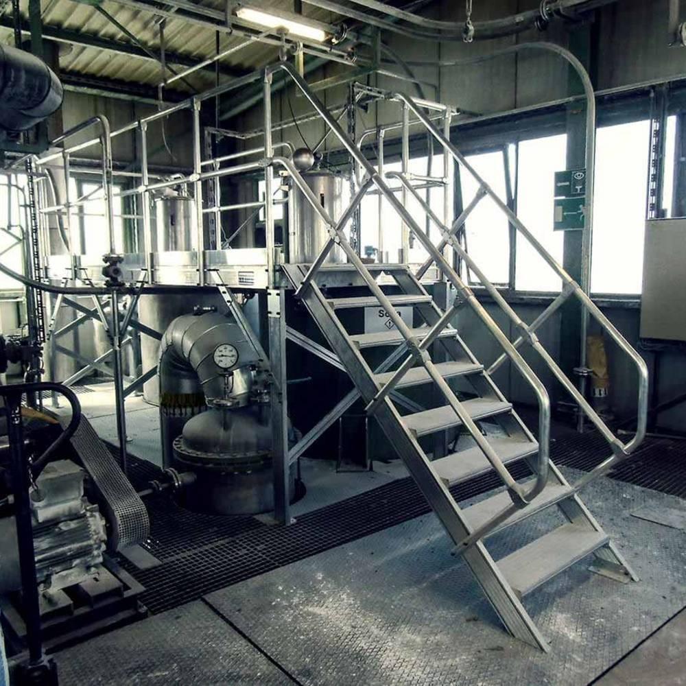 Алюминиевая рабочая платформа для обслуживания и инспекции оборудования