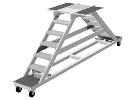 Алюминиевая платформа для безопасного подъема и спуска в смотровую яму