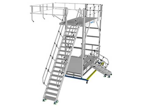 Регулируемые по высоте боковые рабочие платформы из алюминия