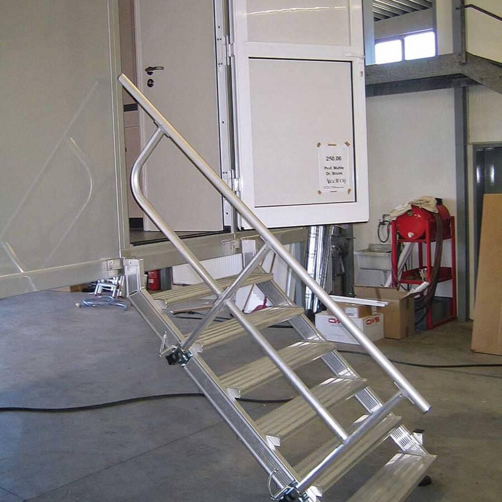 Навесной трап со съемными перилами для быстрого монтажа