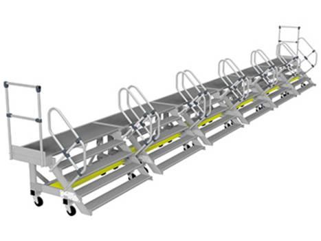 Алюминиевые боковые рабочие платформы модульной конструкции