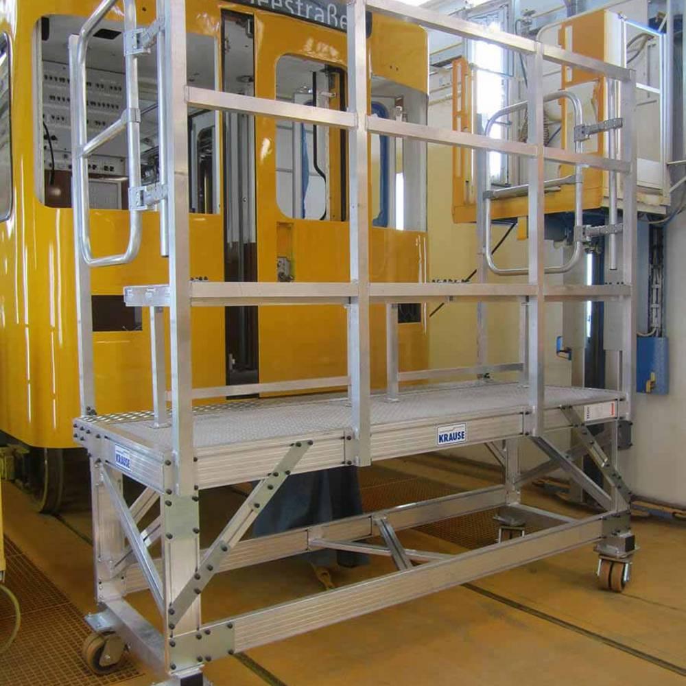 Передвижная фронтальная рабочая платформа для обслуживания поездного состава метро