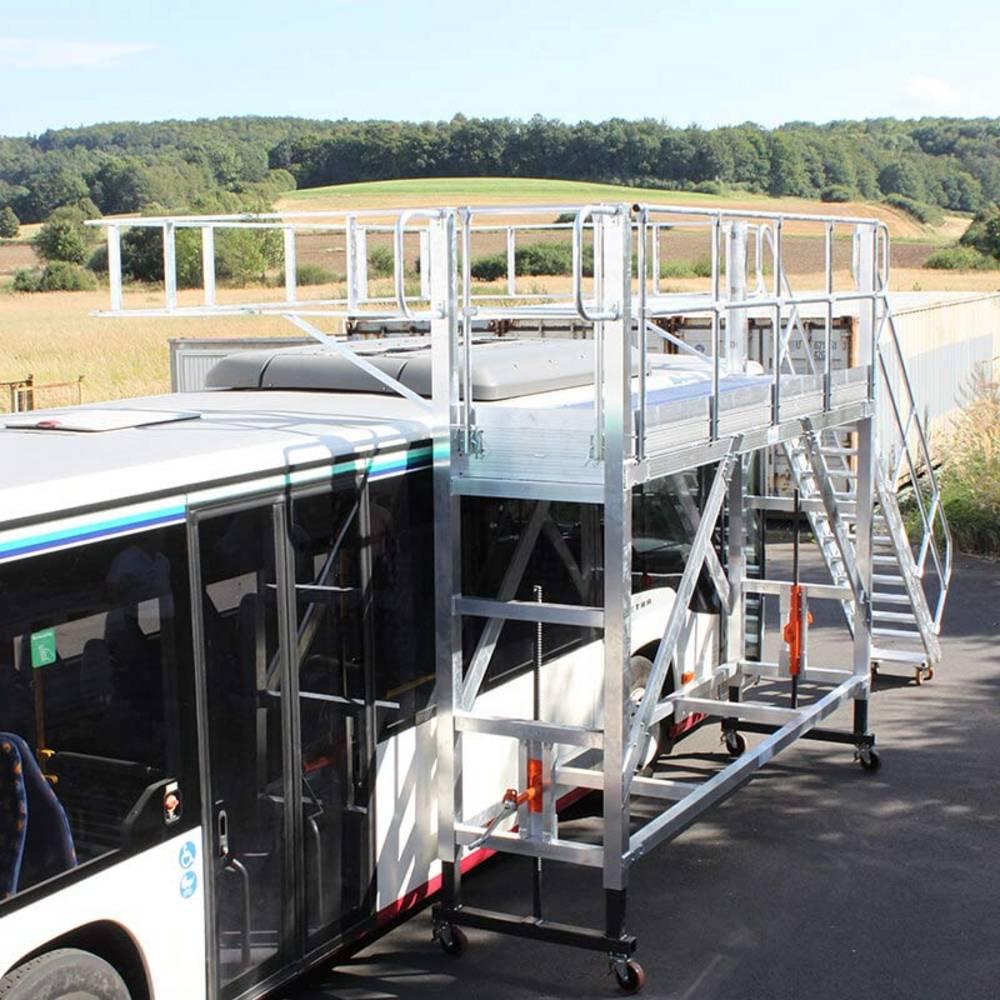 Передвижные рабочие платформы с регулировкой по высоте для обслуживания оборудования