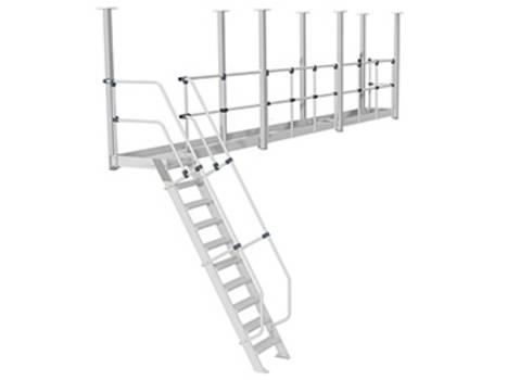Подвесные рабочие платформы для работ на крыше с фиксацией к потолочной конструкции