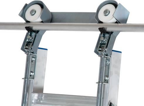 Стеллажные лестницы для круглой шины. Блок роликов для круглой шины подходит для шины из алюминиевой трубы