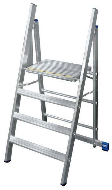 Профессиональная подставка имеет большую площадку, легко передвигается и складывается. Благодаря практически вертикальной опорной части подставку возможно устанавливать вплотную к месту работы
