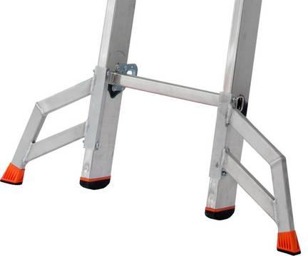 Двухсекционная выдвижная лестница Fabilo. Trigon-Траверса используется на узких, отдельно съёмных секциях лестниц