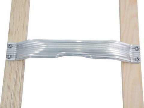 Лестницы для крыши (алюминий). Стабильные перекладины из алюминия выпуклой формы
