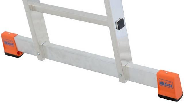 Двухсекционная универсальная лестница Dubilo. Широкая поперечная траверса для большей безопасности