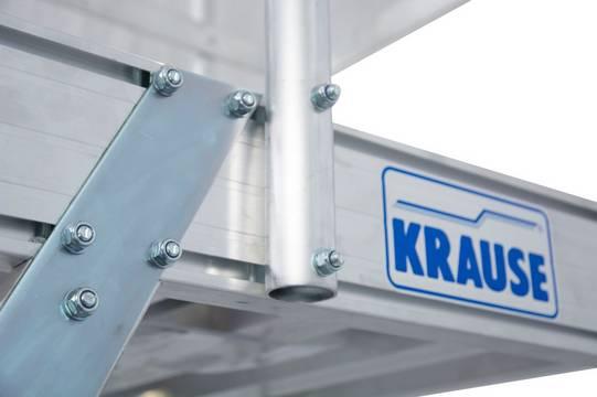 Односторонние передвижные лестницы с платформой. Платформа 600 х 700 мм. Алюминий рифленый