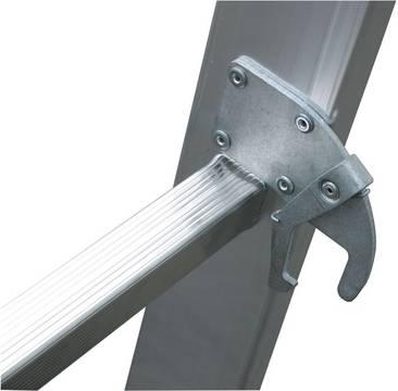 Двухсекционная выдвижная лестница. Самофиксирующаяся скоба Autosnap-System