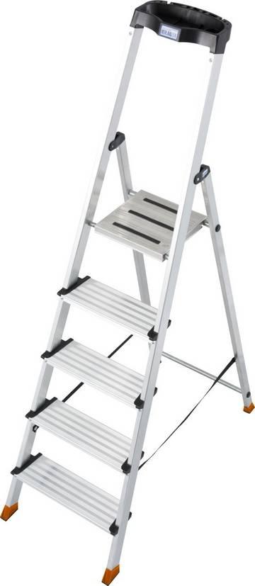 Работая на комфортной стремянке с широкими (125 мм) ступенями Вы не будете уставать.