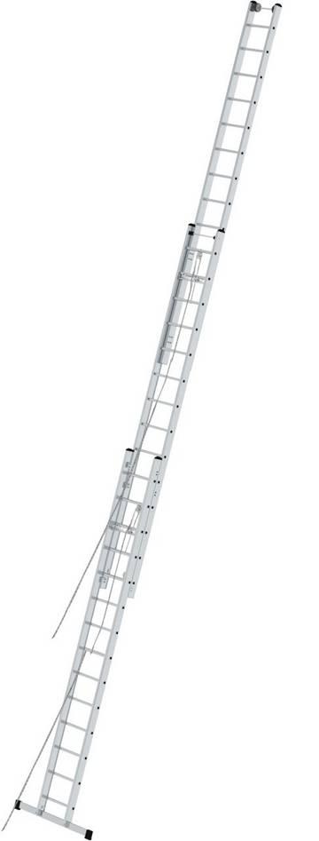 Трехсекционная лестница с тросом (2 блока) для профессионального использования с настенными роликами для удобного выдвижения лестницы.