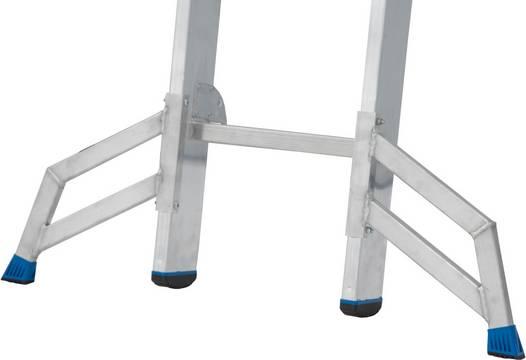 Трехсекционная универсальная лестница Tribilo. Trigon-Траверса используется на узких, отдельно съёмных секциях лестниц