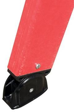 Диэлектрическая двухсторонняя стремянка со ступенями. Высокая стабильность благодаря конической форме