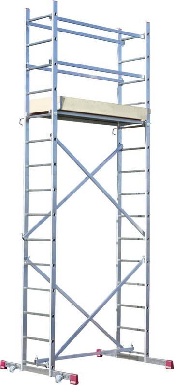 Универсальная рабочая платформа. Собирается легко и быстро без инструмента. Максимальная рабочая высота 5 м.