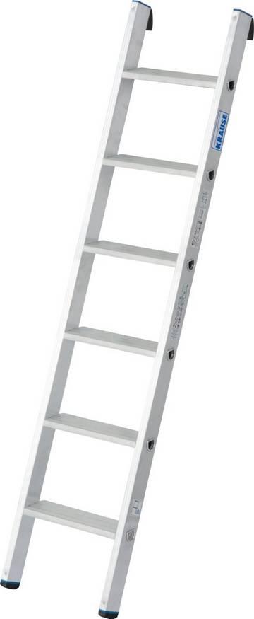 Универсальная алюминиевая приставная лестница со ступенями для удобного и безопасного использования.