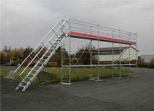 Пример использования площадка для обслуживания транспорта