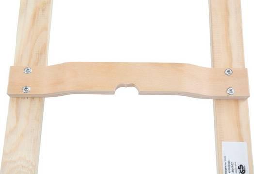 Лестницы для крыши (дерево). Стабильные перекладины из бука выпуклой формы