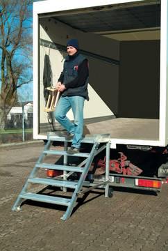Пример использования Лестница с платформой передвижная