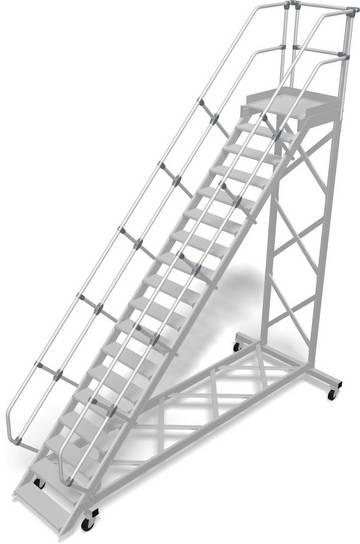 Прочный алюминиевый трап - безопасное и мобильное рабочее оборудование для различных видов деятельности, согласно DIN EN ISO 14122.