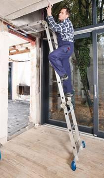 Пример использования Шарнирная универсальная лестница