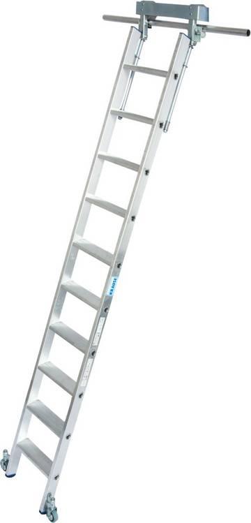Алюминиевая стеллажная лестница со встроенным блоком роликов для Т -образной шины.