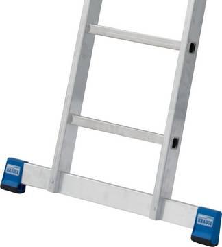 Двухсекционная универсальная лестница. Широкая поперечная траверса для большей устойчивости