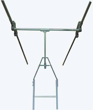 Стеллажные двухрядные лестницы. Интегрированная системв блоков роликов для друхстронних стеллажей