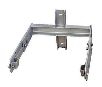Системная часть лестницы - Настенный кронштейн для бетонной колонны 350 - 550 мм