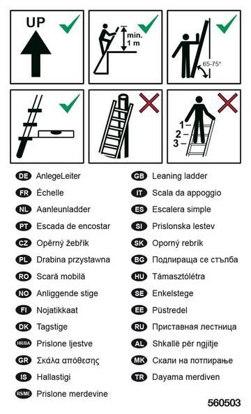 Для этикетирования приставных лестниц
