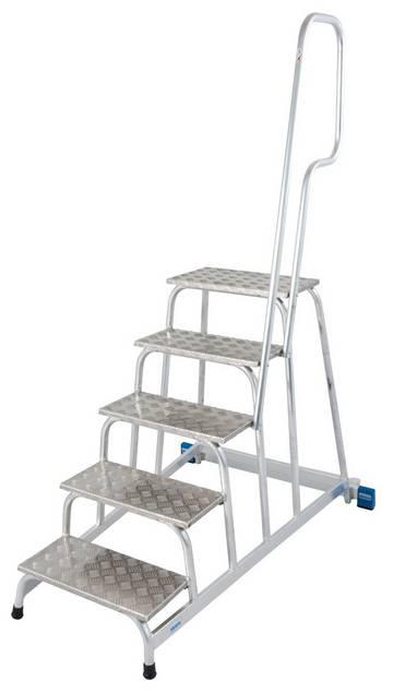 Легкая передвижная монтажная подставка с нескользящими ступенями и поручнем для промышленного использования