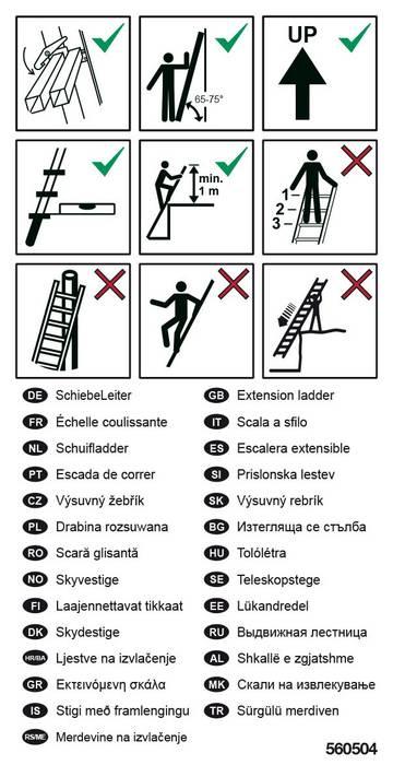 Для этикетирования выдвежных лестниц