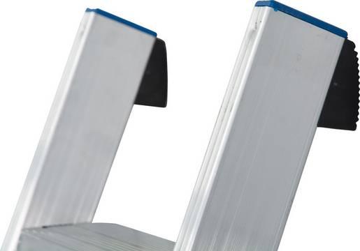 Приставная лестница. Безопасное использование благодаря резиновым накладкам