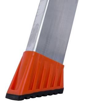 Стремянка Sepuro. Усовершенствованные, большие насадки боковин с мягкой накладкой SafetyCap