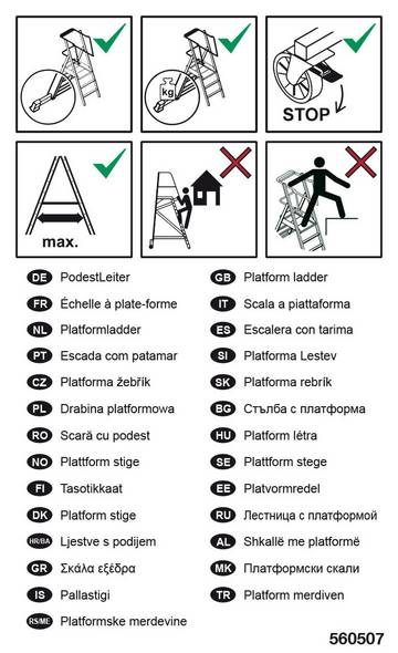 Для этикетирования лестниц с площадкой