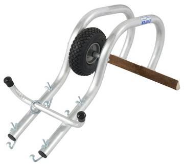 Перебрасываемая дуга с роликом обеспечивает безопасное крепление лестниц на крыше без использования крюков.
