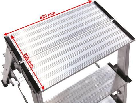Складная подставка Treppo. Большая удобная площадка размером 420 х 250 мм