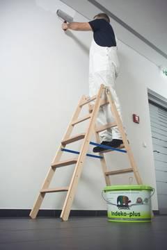 Пример использования лестница из дерева с перекладинами/ступенями