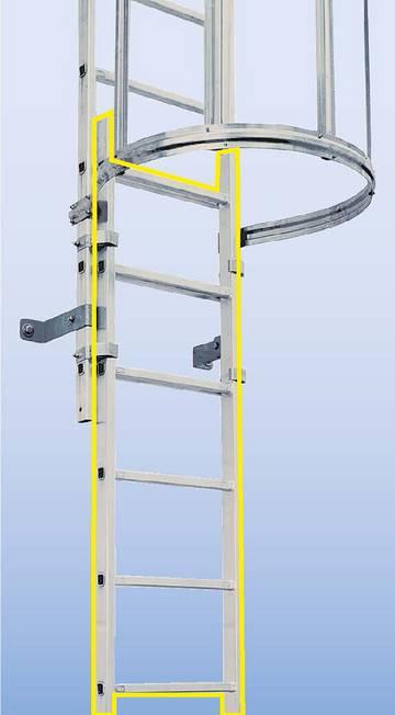 Системная часть лестницы  - Лестница аварийного спуска
