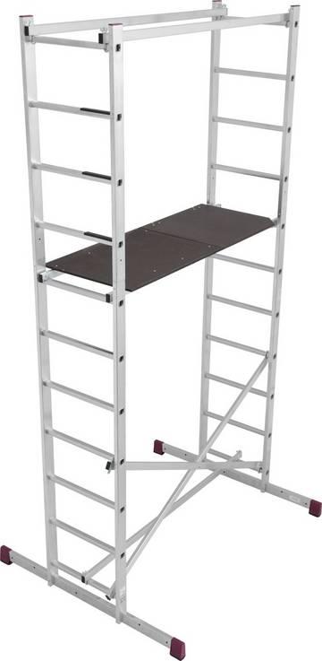Универсальная рабочая платформа. Собирается легко и быстро без инструмента. Максимальная рабочая высота 4 м.