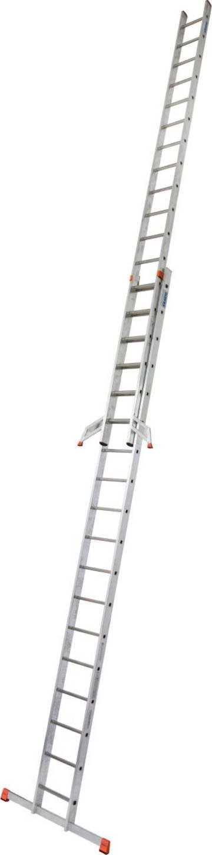 Легкая универсальная двухсекционная выдвижная лестница.