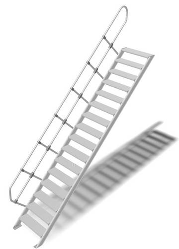 Прочный алюминиевый трап в соответствии с DIN EN ISO 14122.