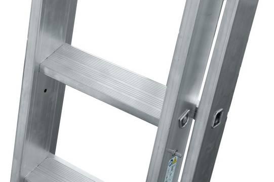 Универсальная лестница +S. Безопасный подъем и рабочее место согласно нормам на безопасной перекладине KRAUSE.