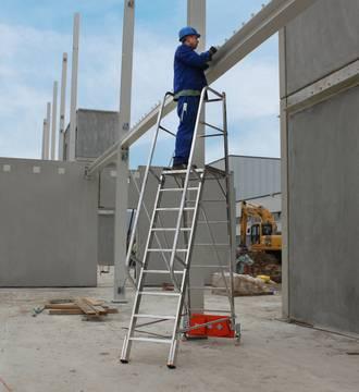 Пример использования Лестница с платформой Vario Kompakt