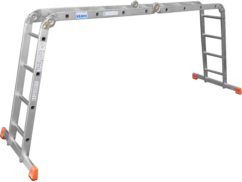Универсальная шарнирная лестница MultiMatic. Данную многофункциональную шарнирную лестницу Вы можете использовать как приставную лестницу, стремянку или подмости.