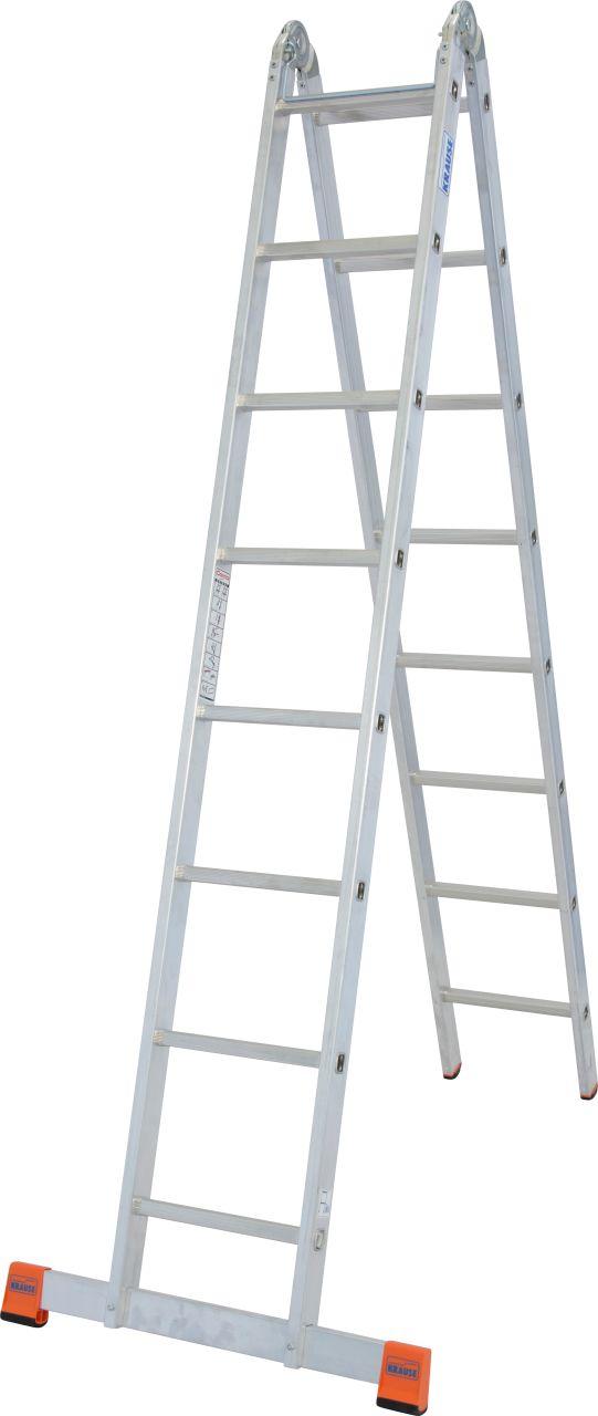Двухсторонняя шарнирная лестница TriMatic. Алюминиевая шарнирная лестница используется как стремянка или приставная лестница при внутренних или наружных работах.